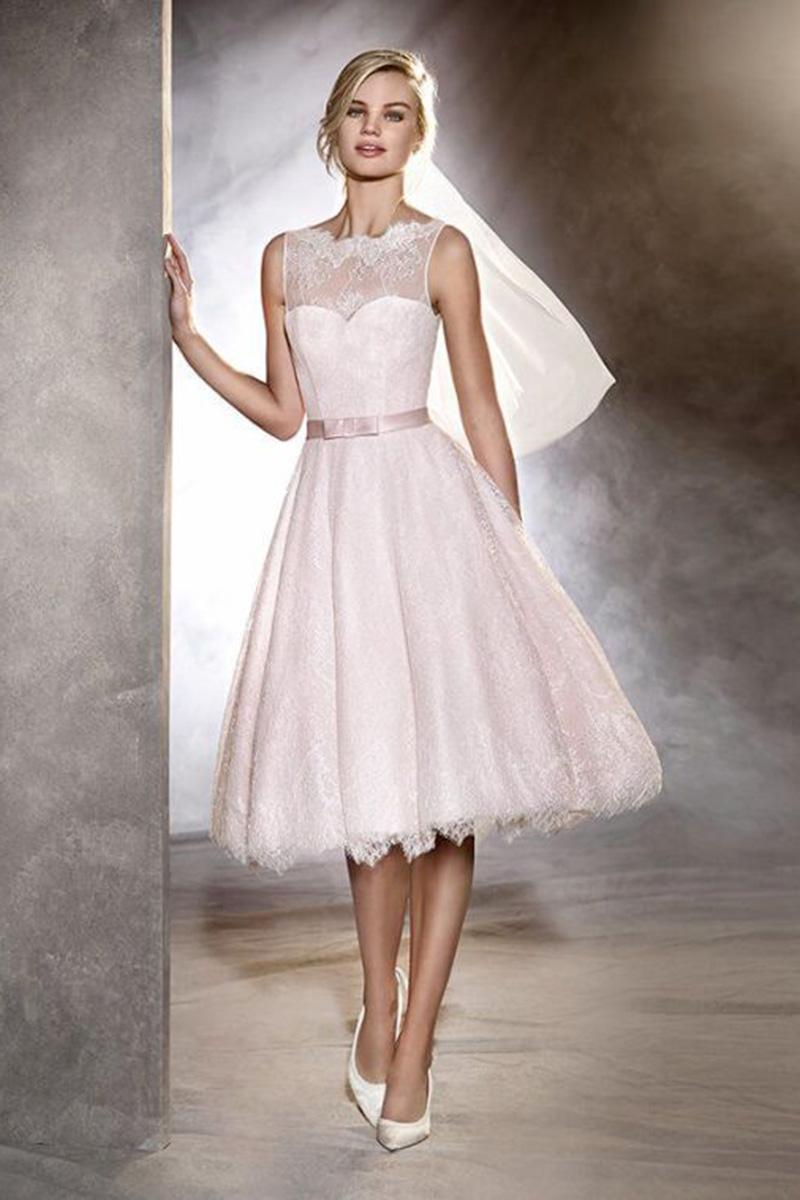 1728fee64808 abiti da sposa corti pronovias - Cerrato Moda