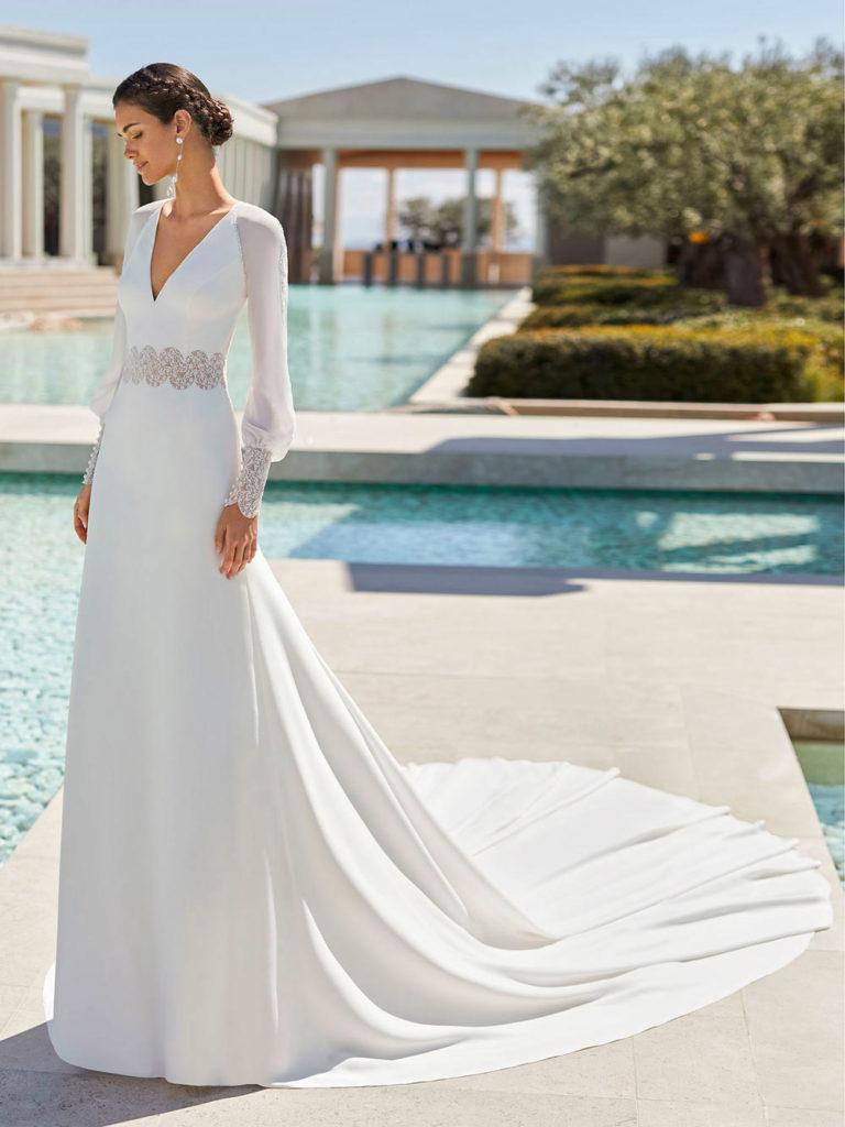 abito da sposa invernale a-line