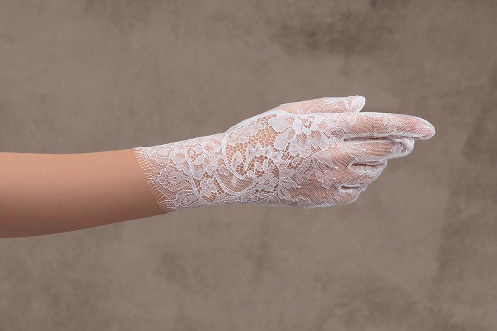 guanti sposa corti