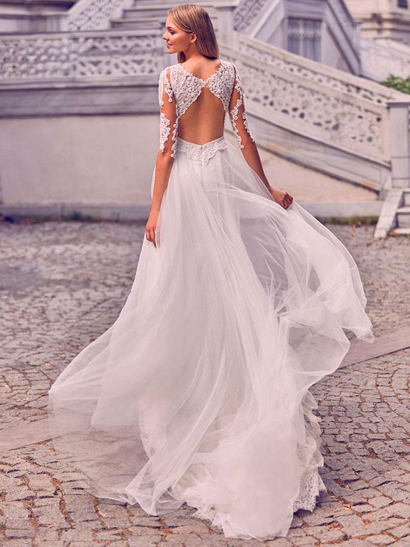 Abiti da sposa per donne basse backless