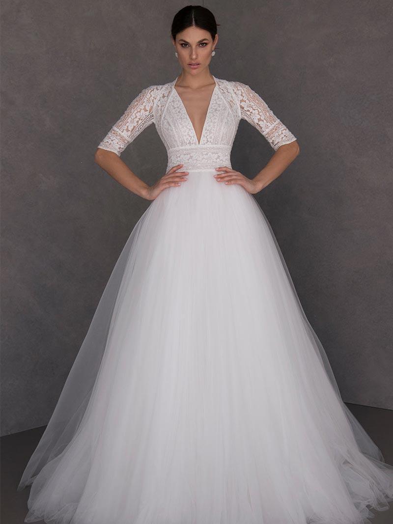 abito da sposa curvy A-Line