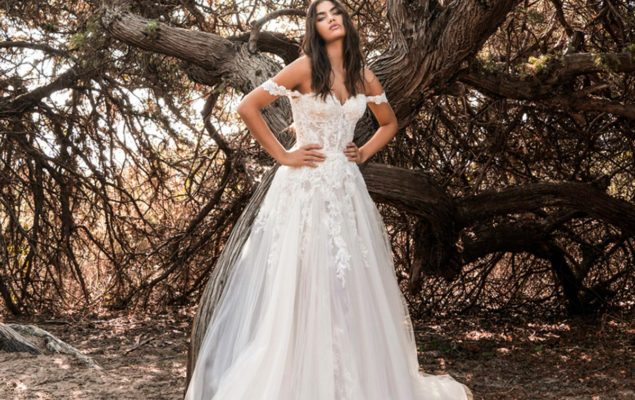 abiti da sposa a trapezio