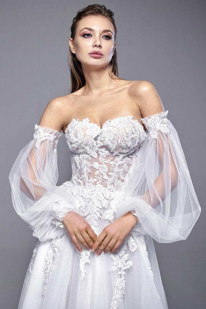 abiti da sposa maniche rimovibili