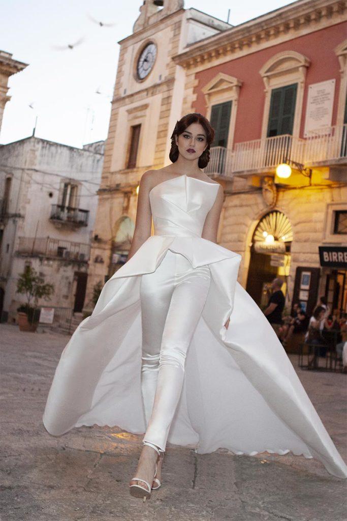 vestito da sposa pantaloni